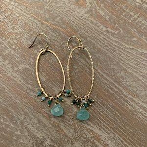 Anthropologie Dainty Gold Dangle Earrings
